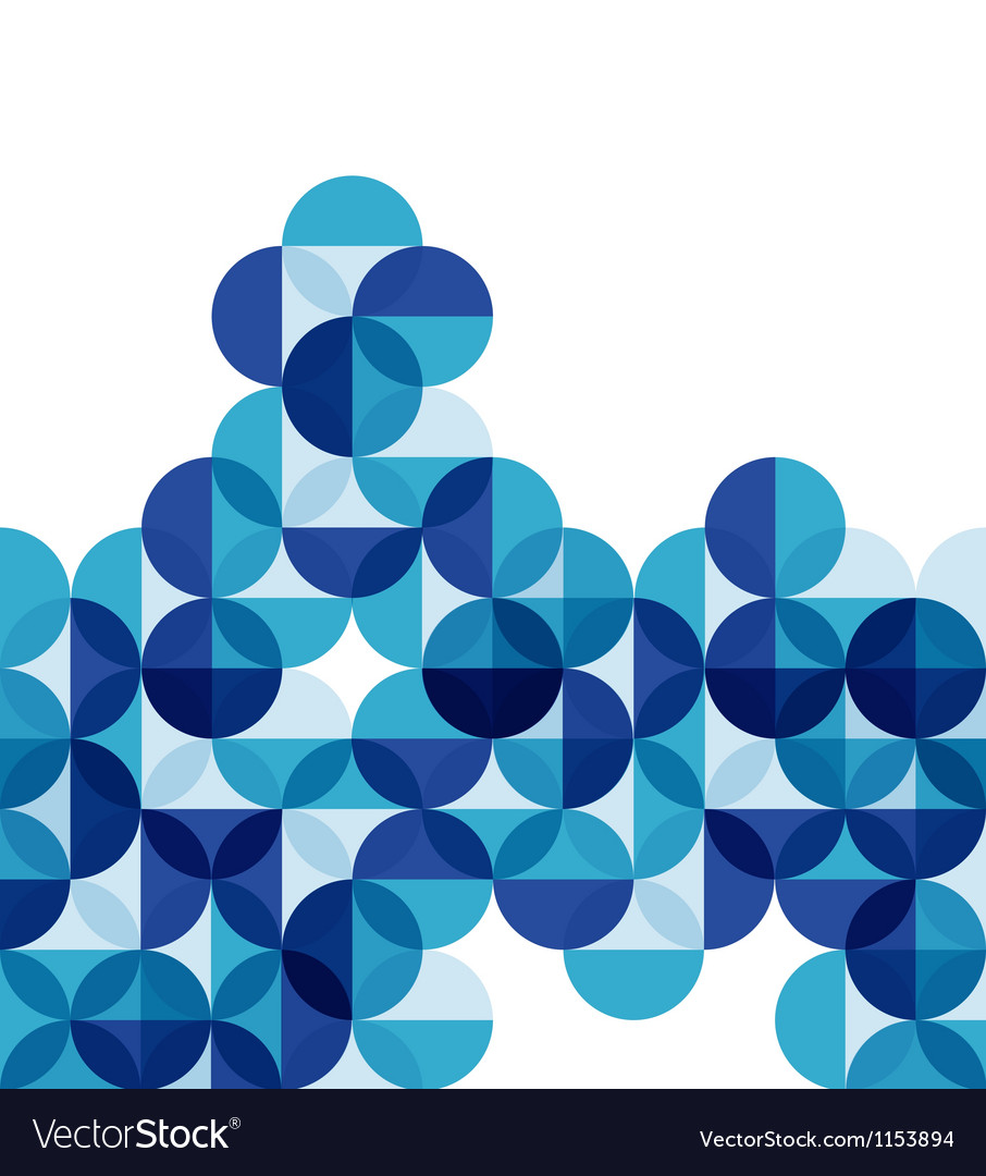 Blue modern geometric abstract background vector