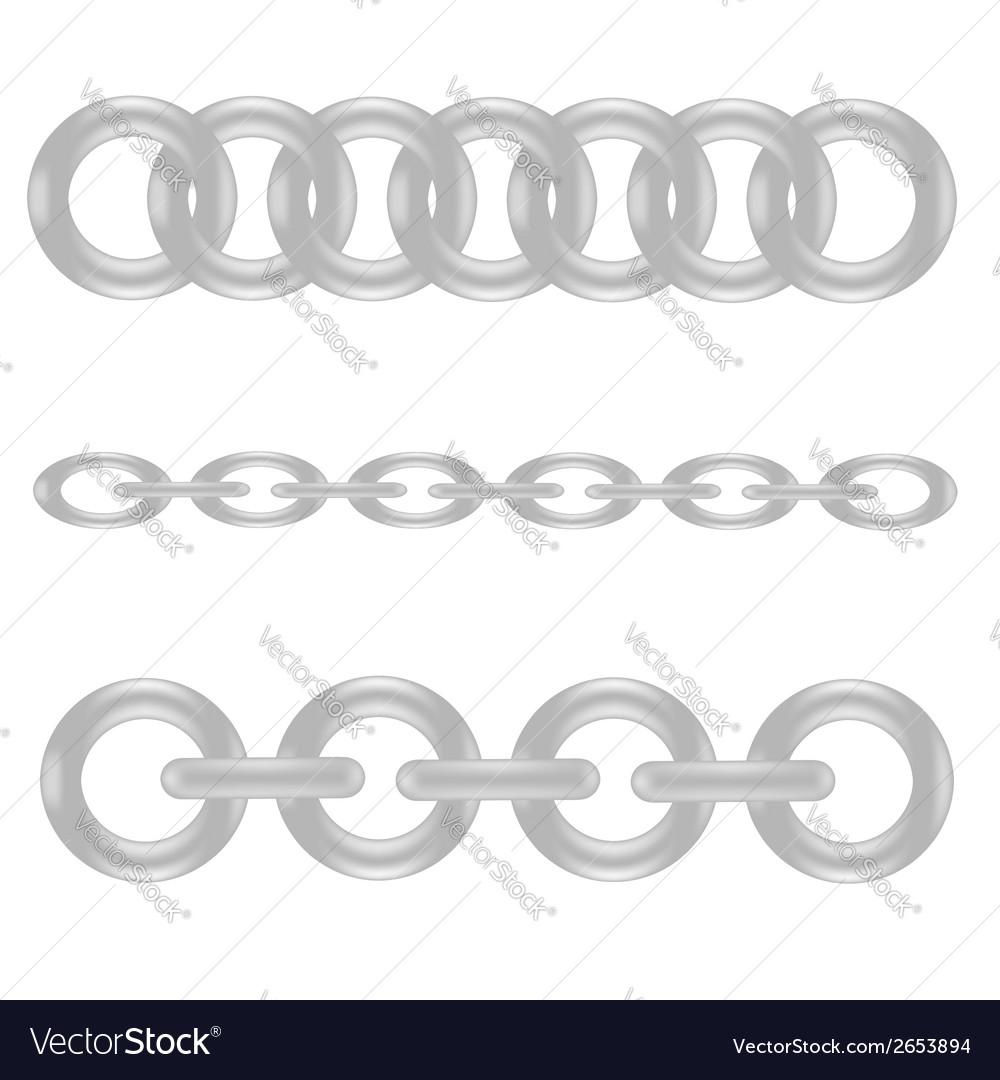 Metal chain vector