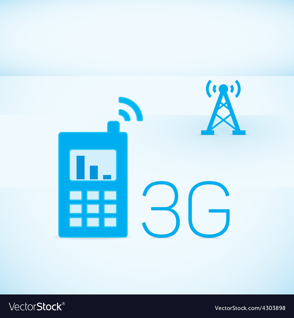 Mobile networks vector
