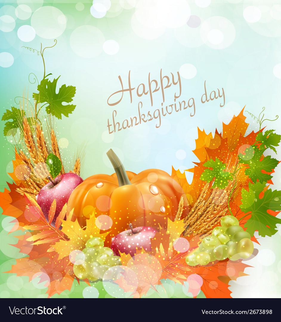 Thanksgiving day vector