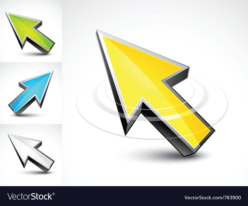 3d pointer arrows vector