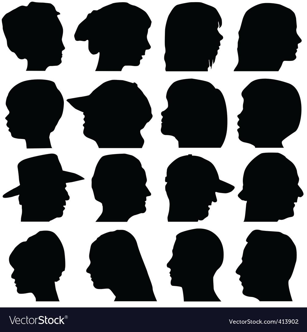 Face portrait vector