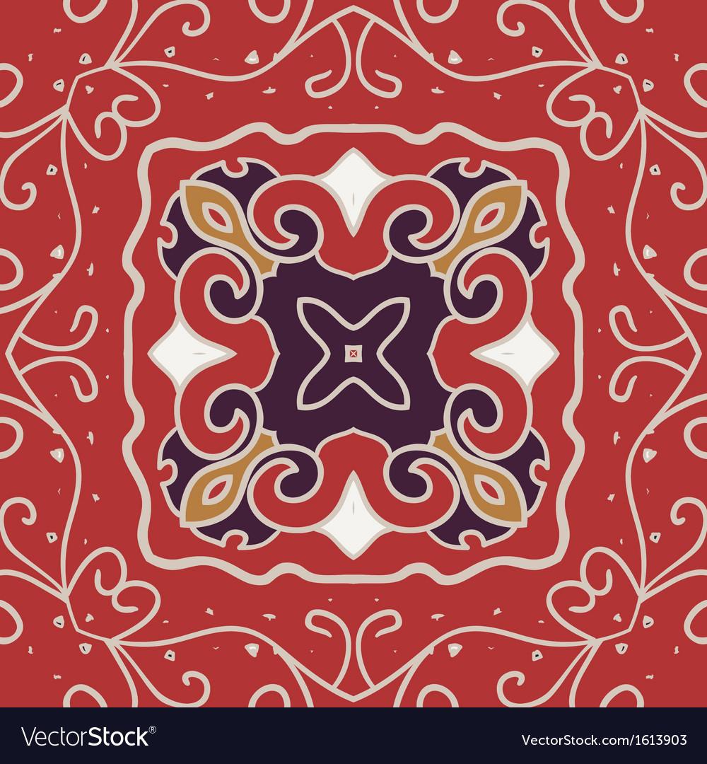 Seamless pattern vintage look vector