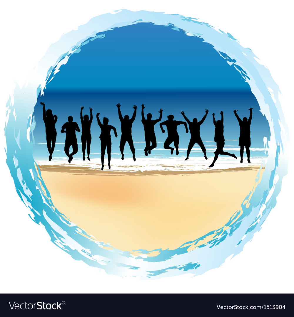 Group of happy people vector