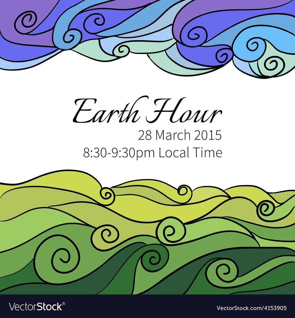 For earth hour aannual international vector