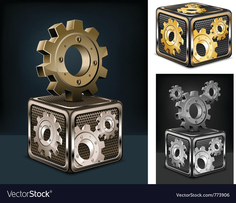 Industrial gears vector