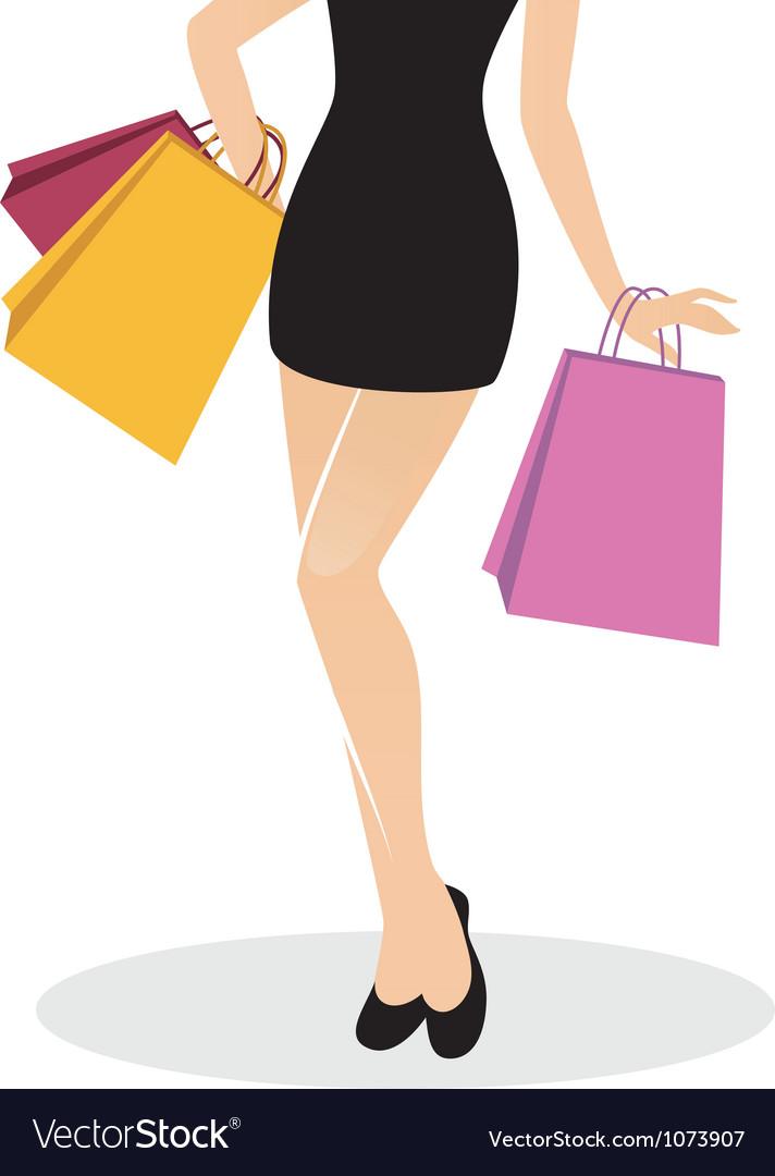 Legs shopping vector