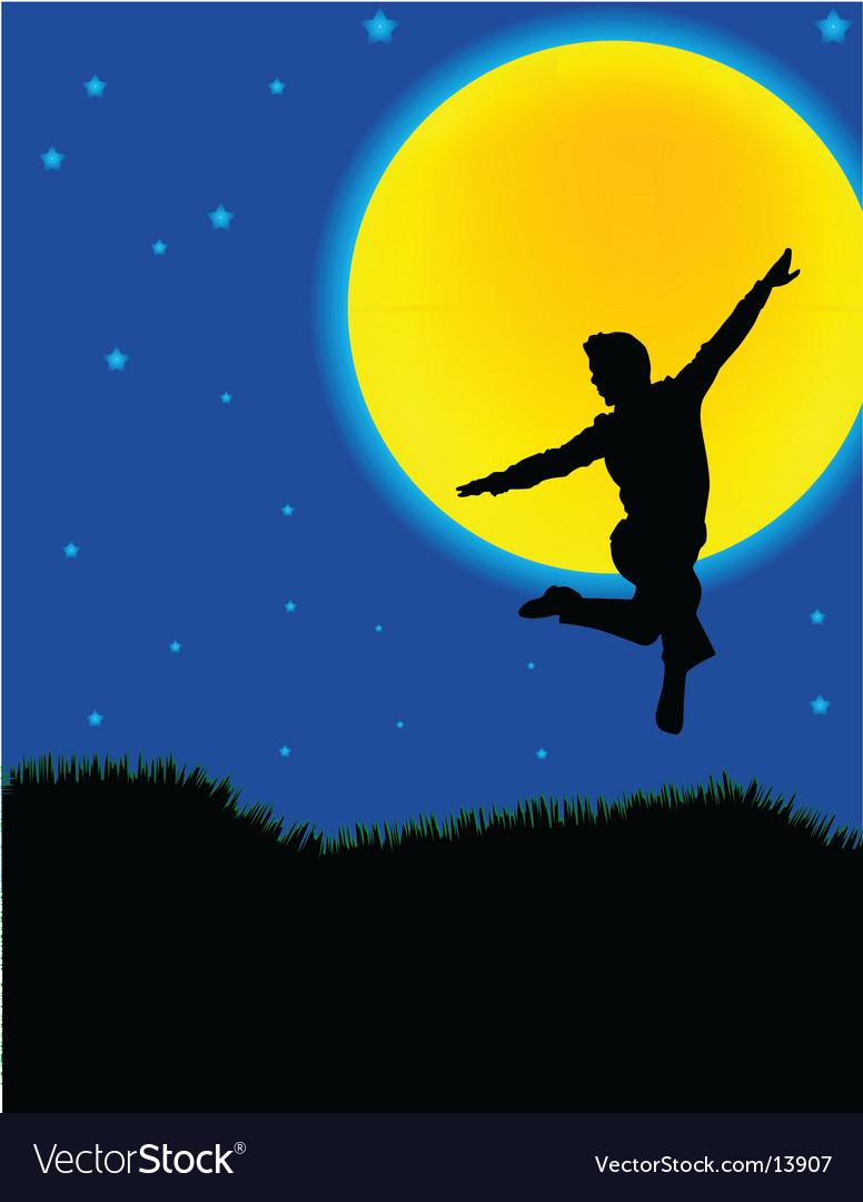 Moonlight dancer vector