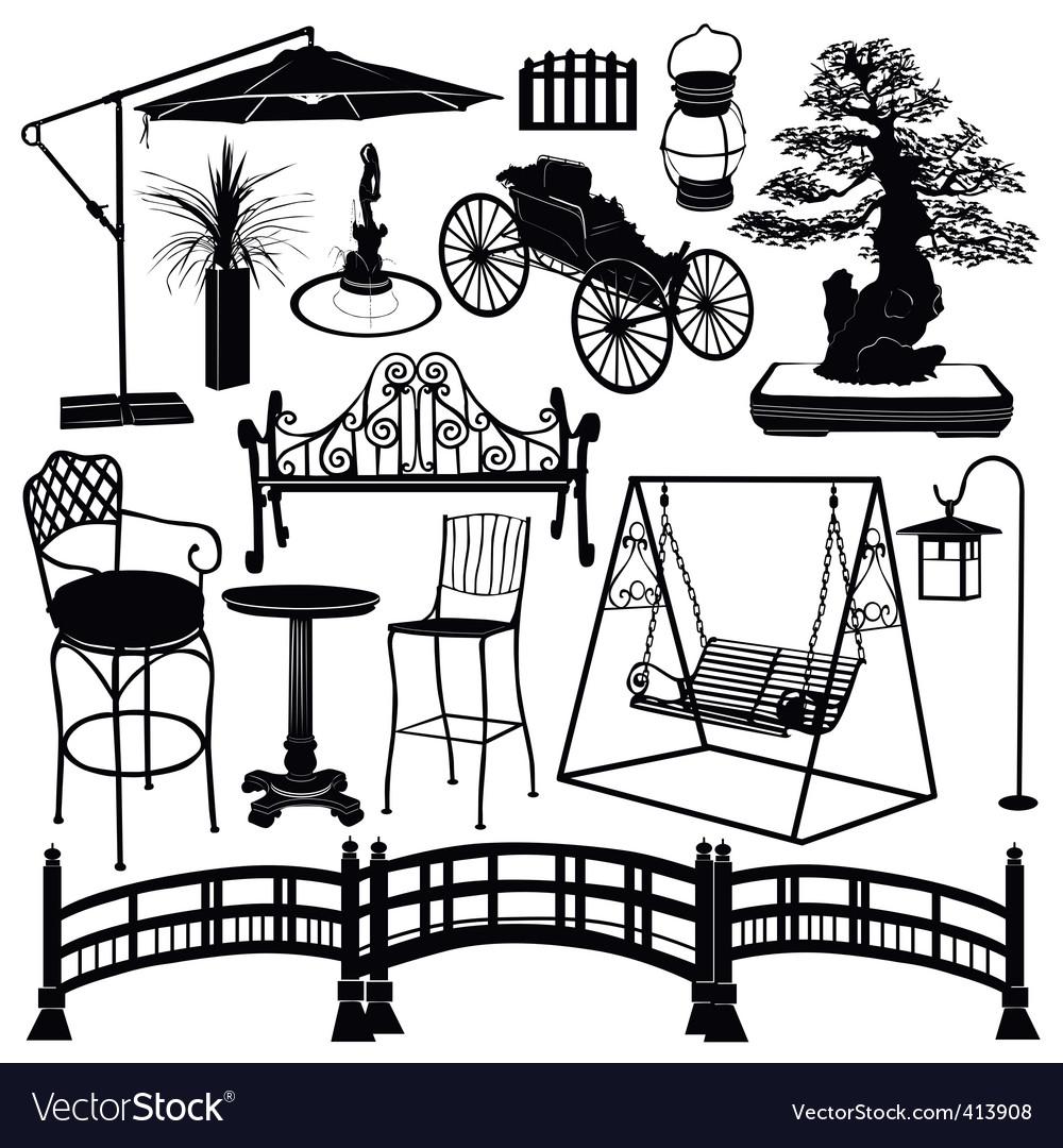 Home garden objects vector