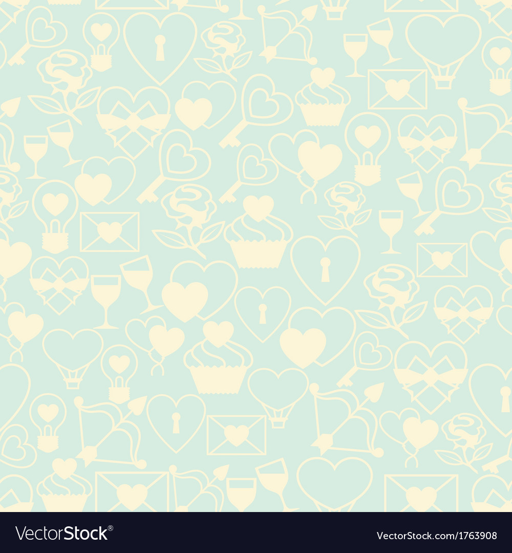 Valentines and wedding seamless pattern vector