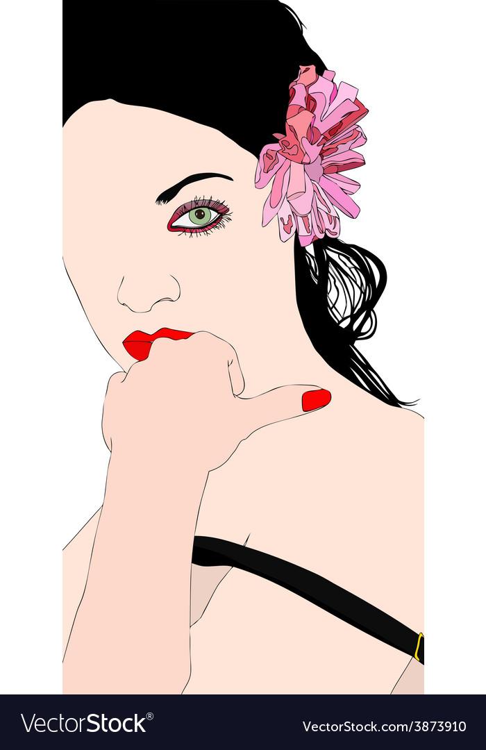 A beautiful and sensual girl vector