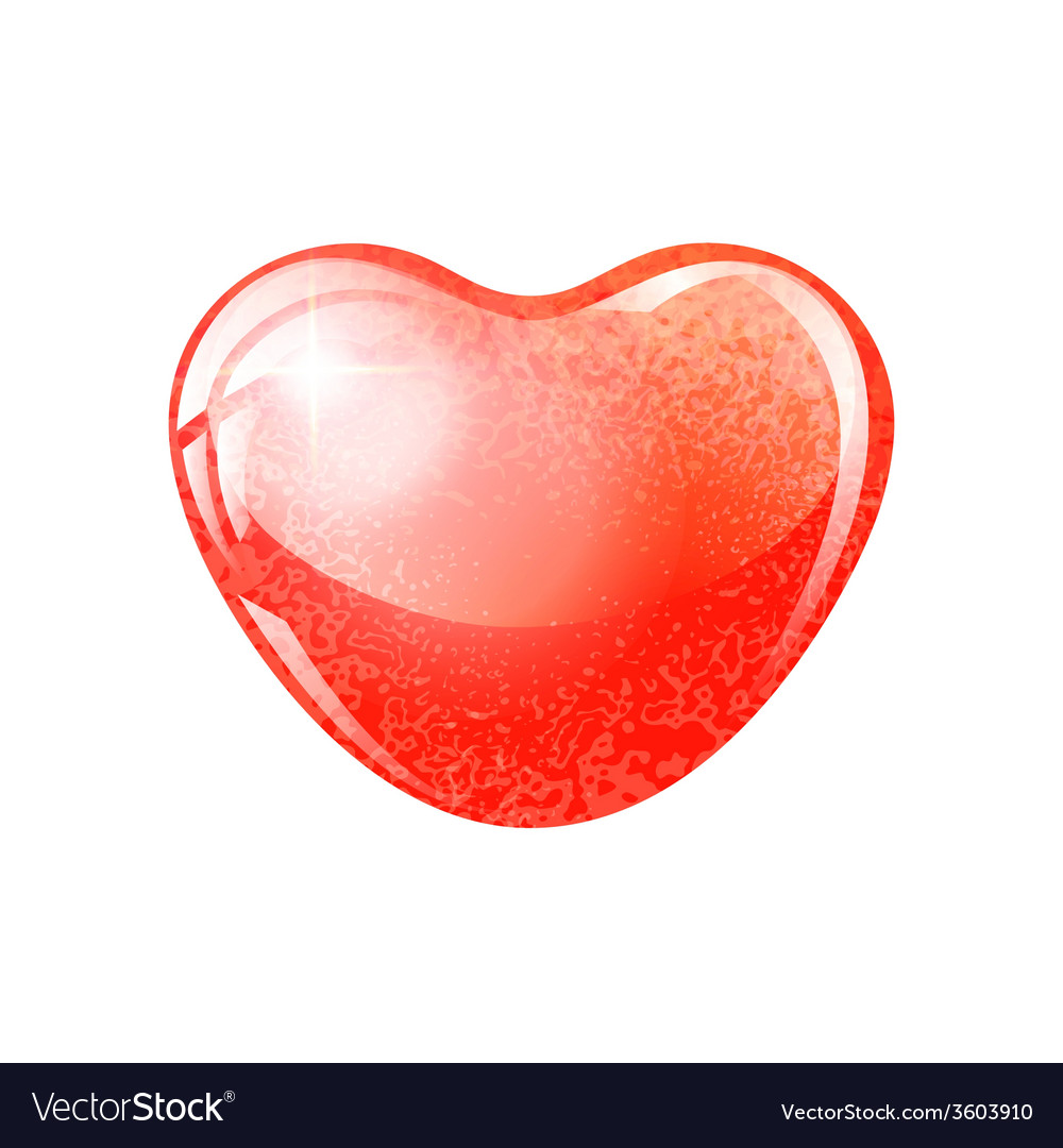 Heart red shape on white background vector