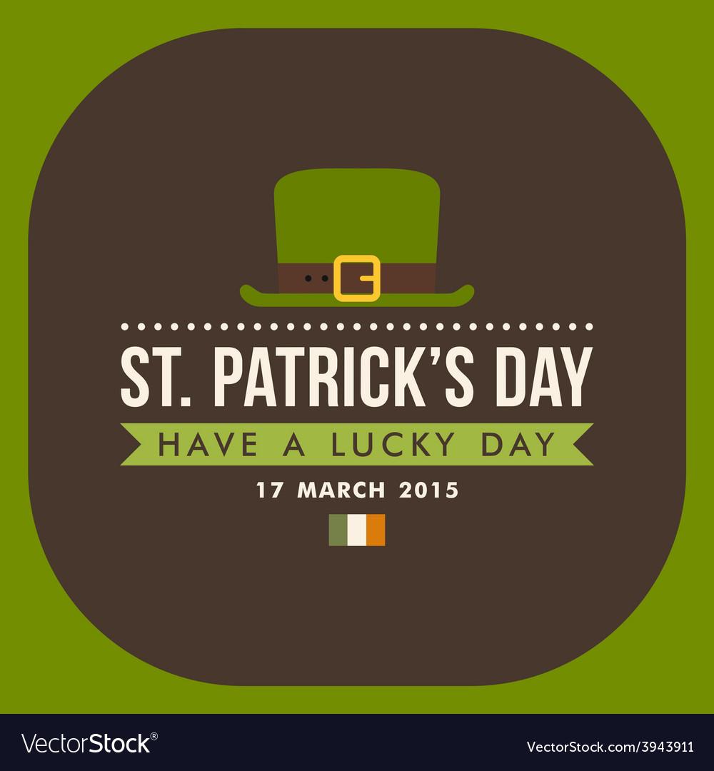 St patricks day card design vintage holiday badge vector