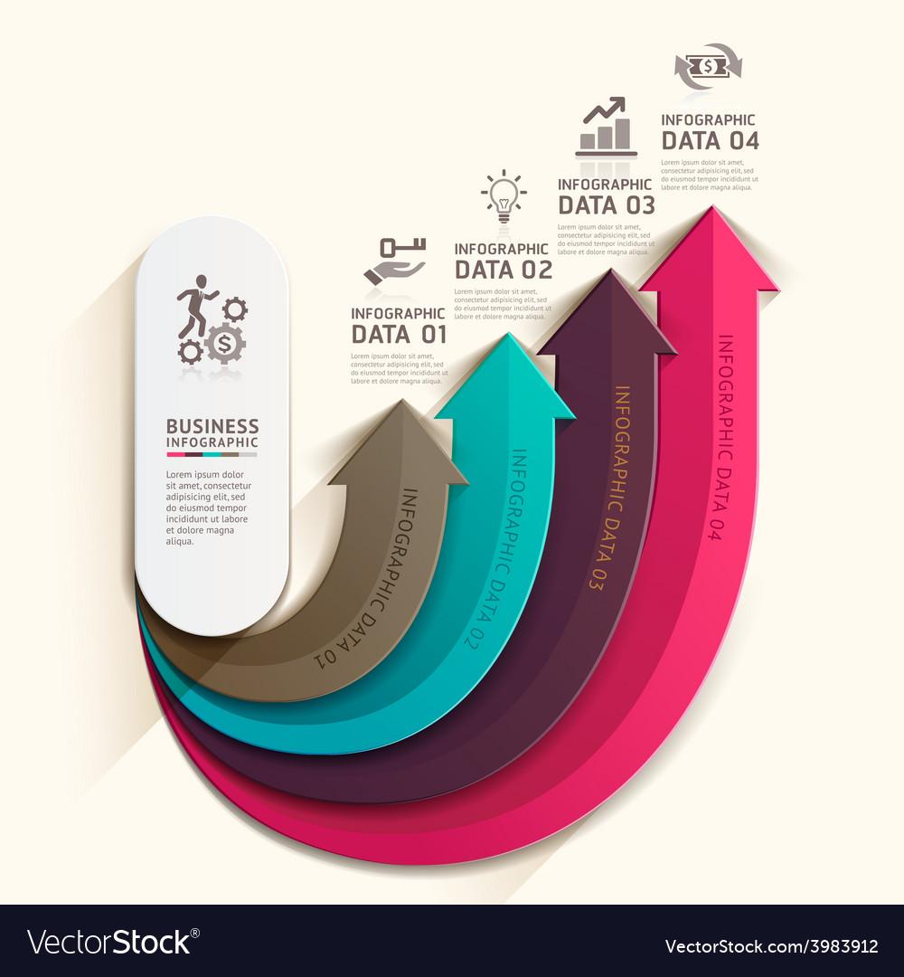 Arrow business infographics template vector