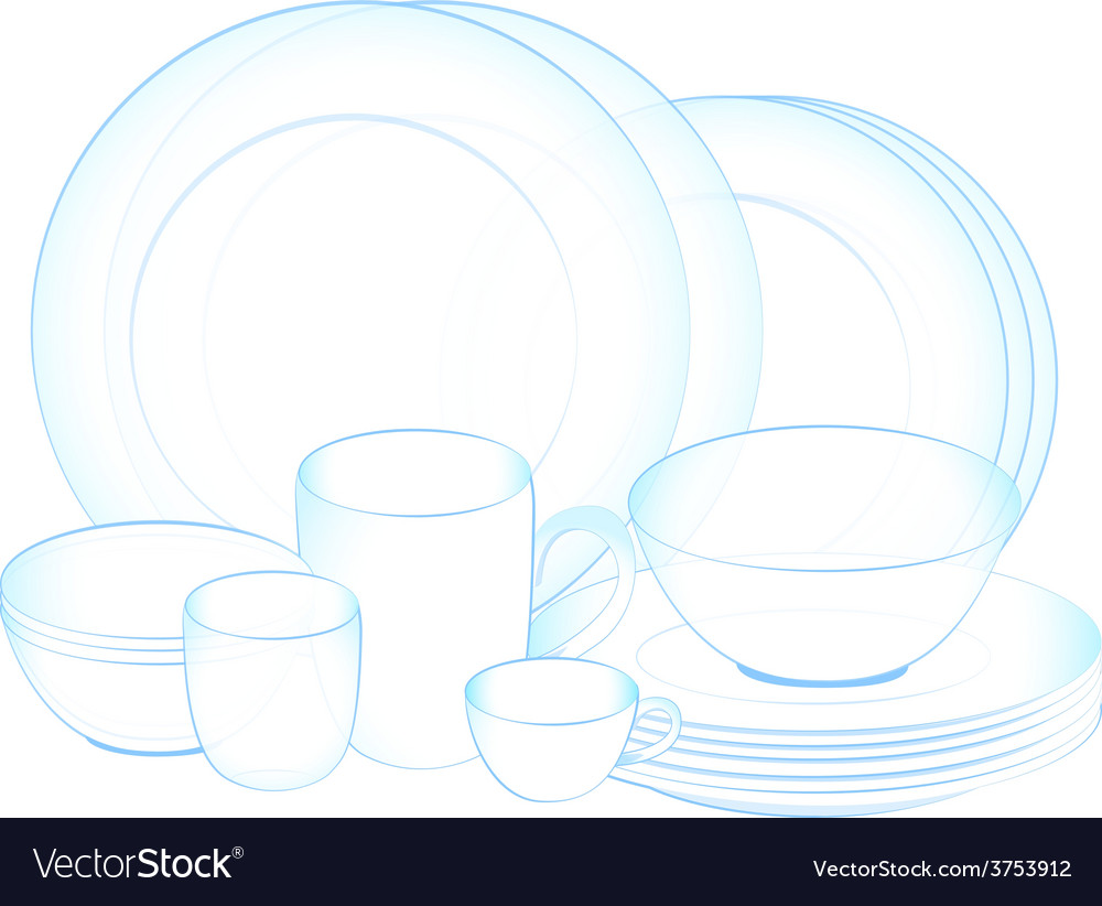 Dish clean vector