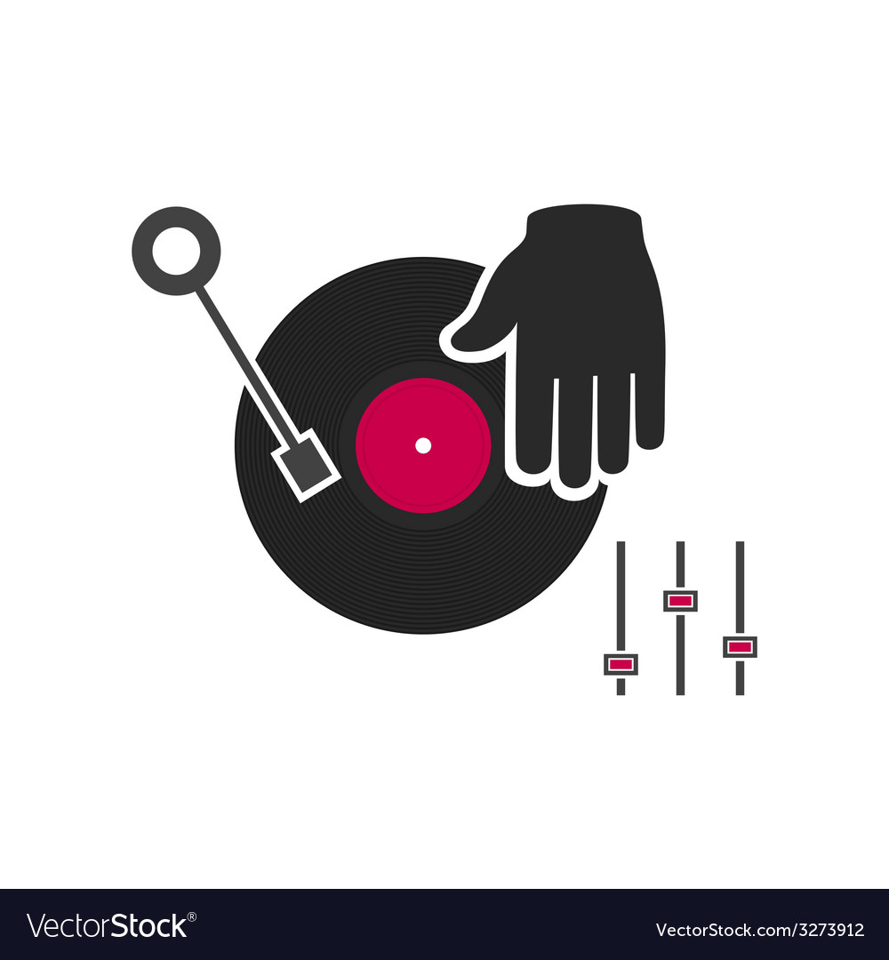 Hand of the dj vector
