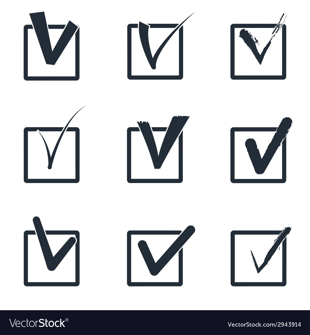 Checkboxes vector