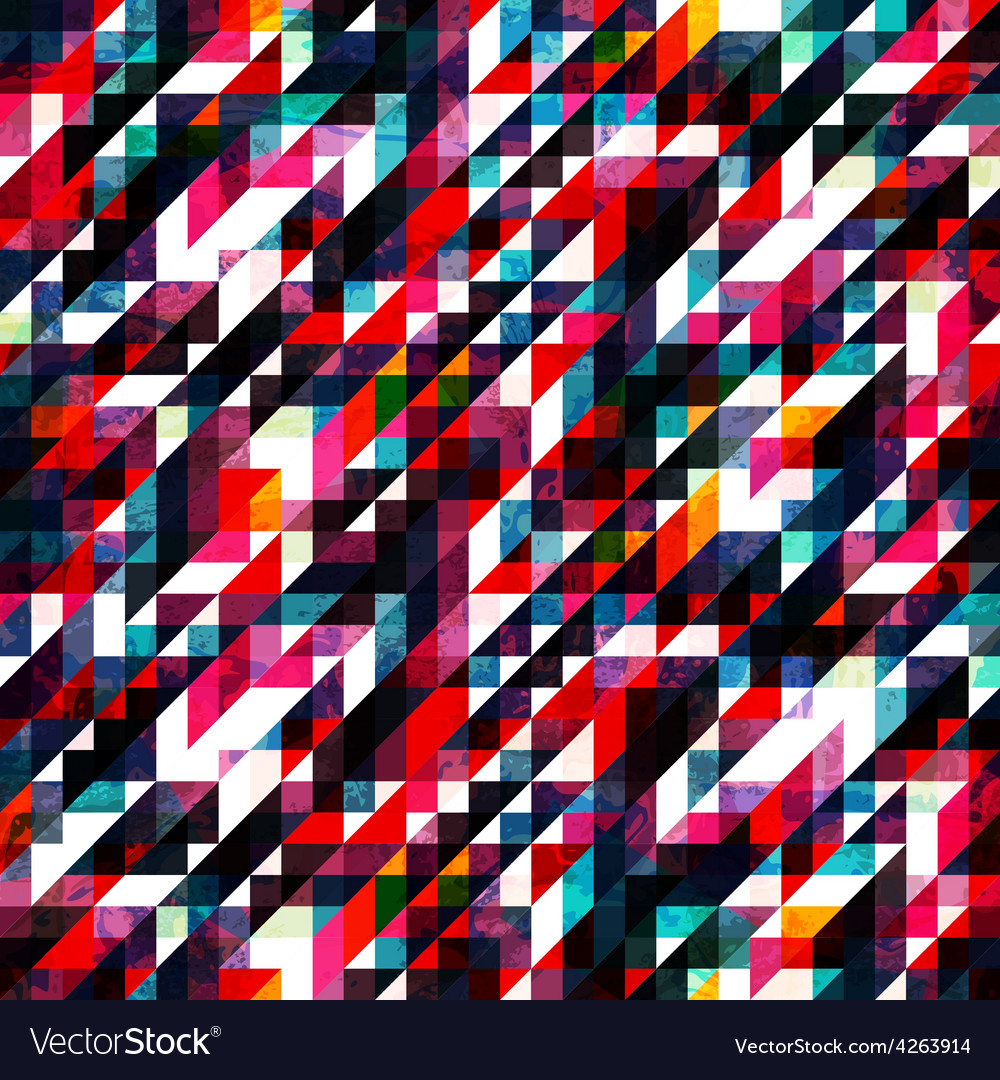 Retro red pixel seamless texture vector