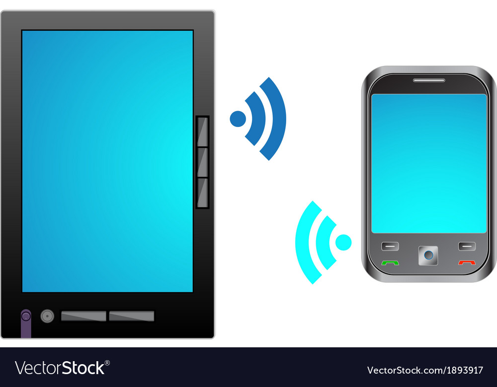 Bring your own device byod tablet with mobile vector