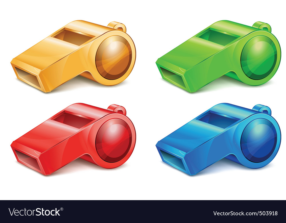 Color whistles vector