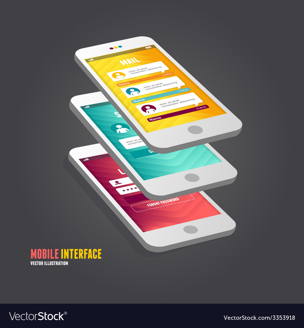 Elements of ui user interface vector