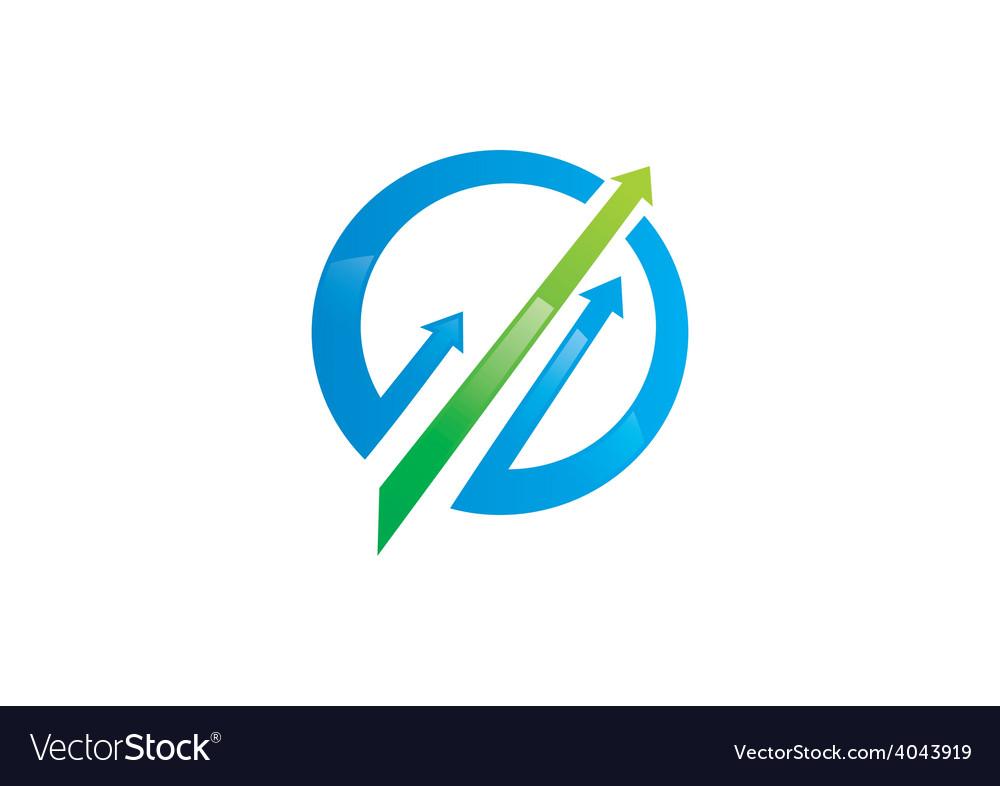 Arrow business finance market logo vector