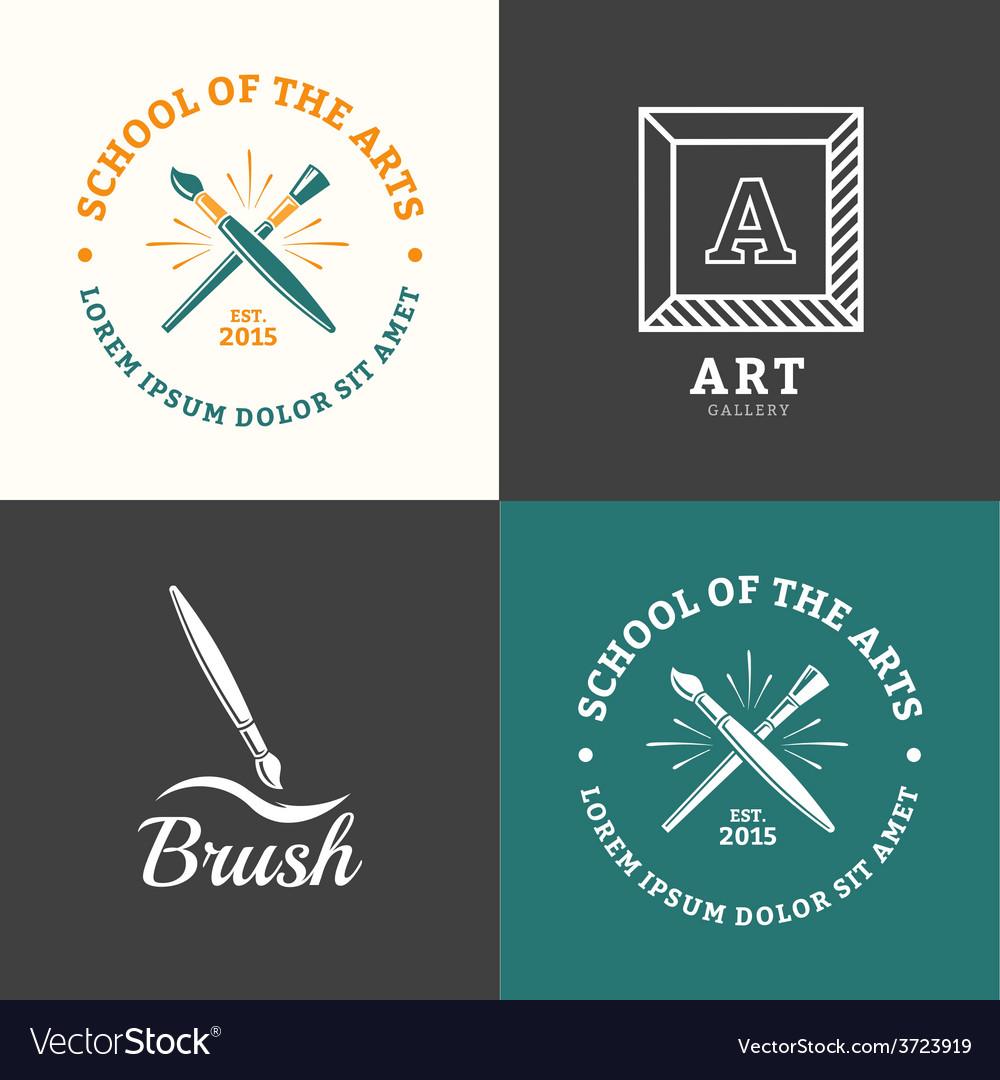Brush logo vector