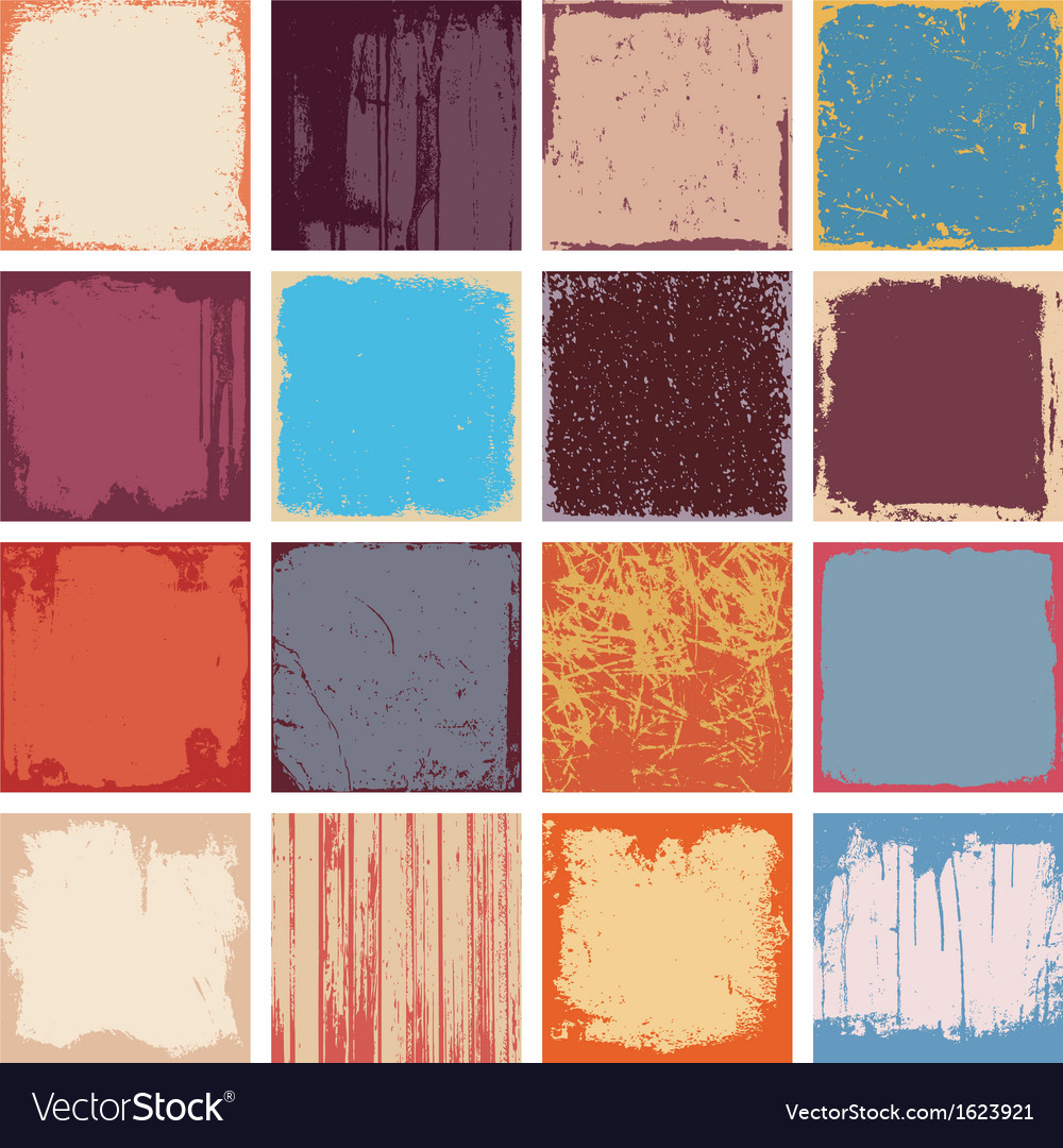 Grunge square backgrounds vector