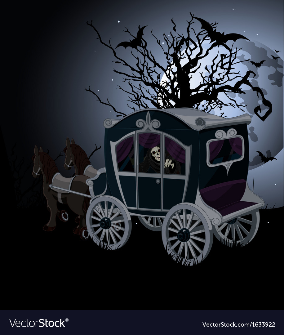Halloween carriage background vector