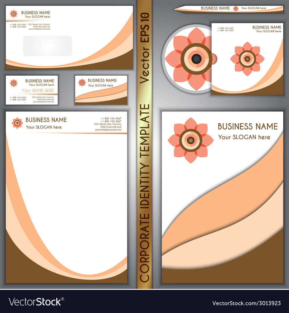 Corporate brand cream and chocolate template vector