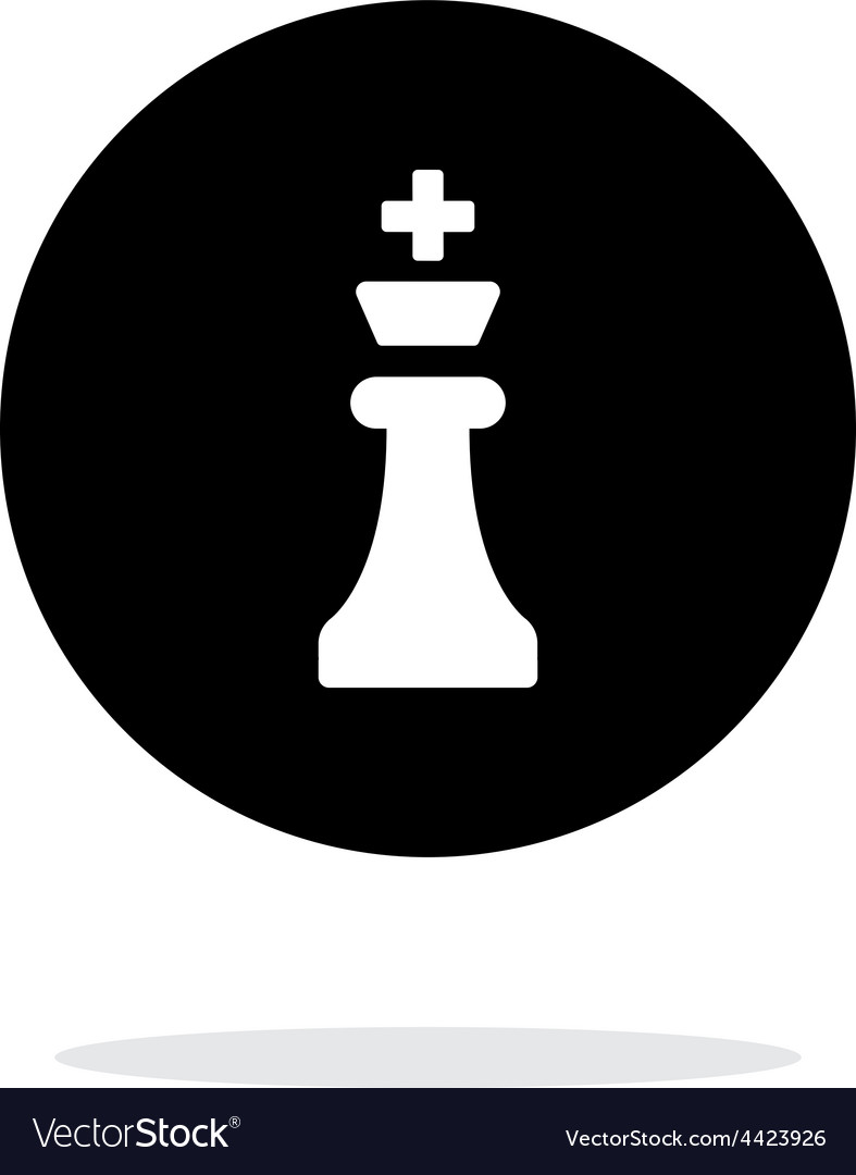 Chess king simple icon on white background vector