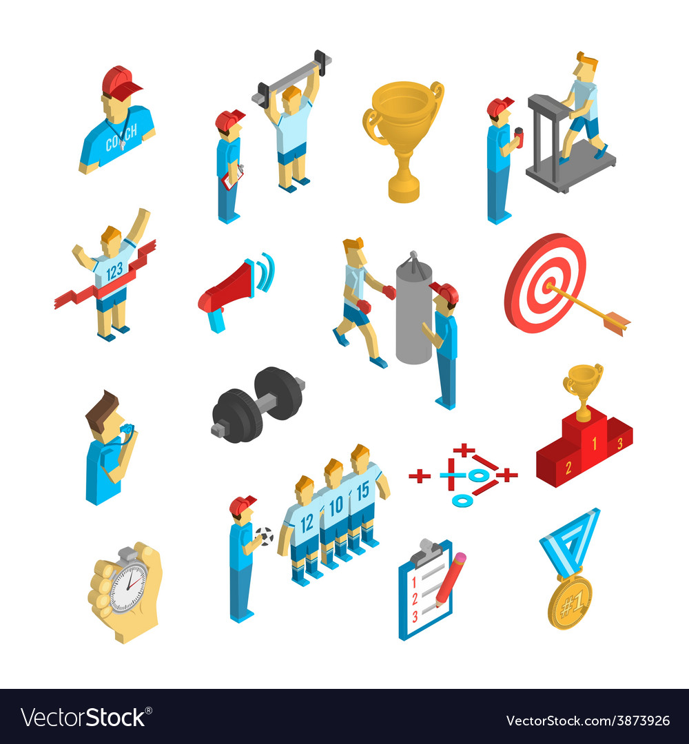 Coaching sport icon isometric vector
