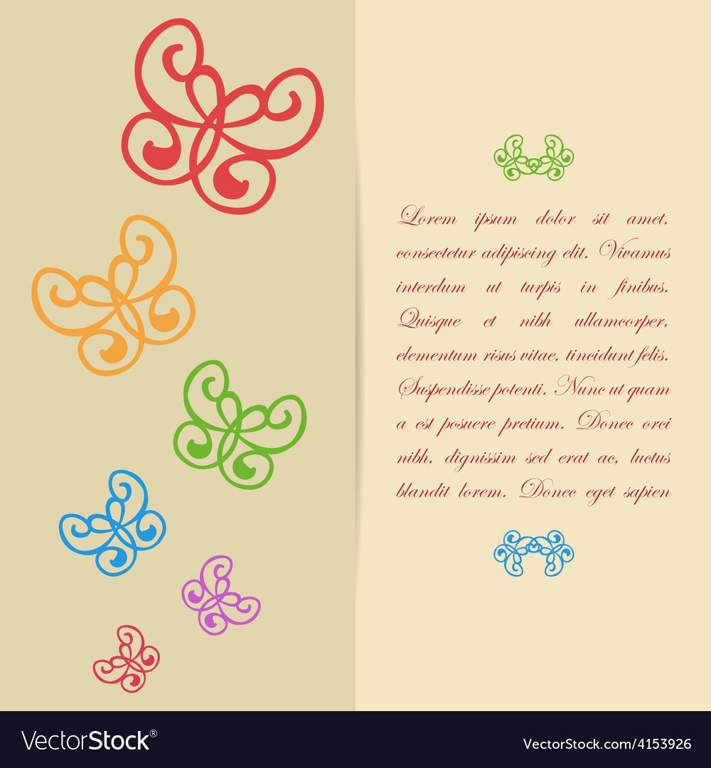 Greeting card or invitation design with vector
