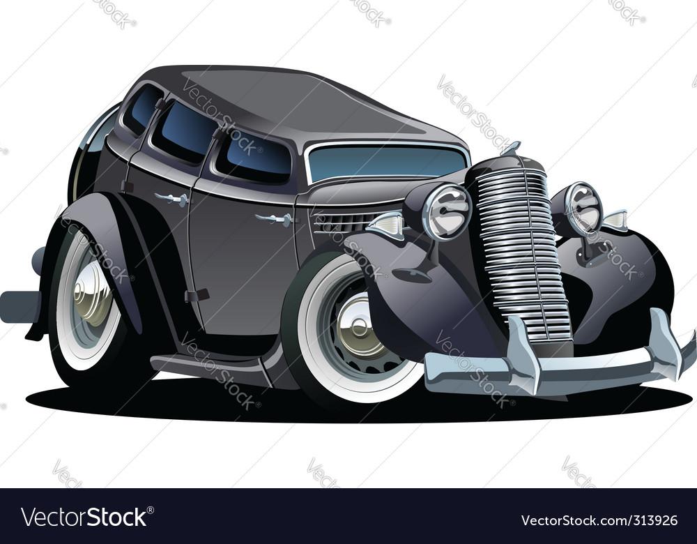 Retro cartoon retro car vector