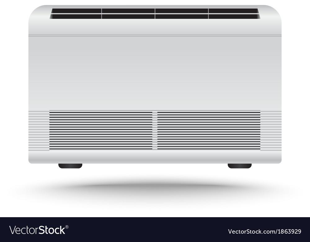 3d realistic air conditioner vector