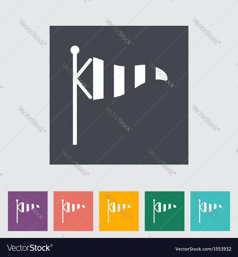 Wind speed flag vector
