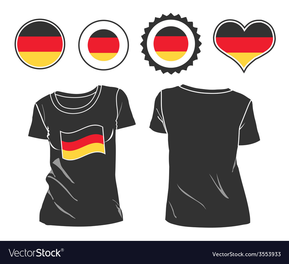 T-shirt with the flag of germany vector