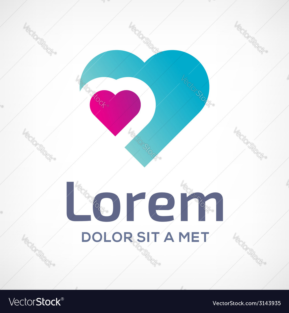 Heart symbol logo icon design template vector