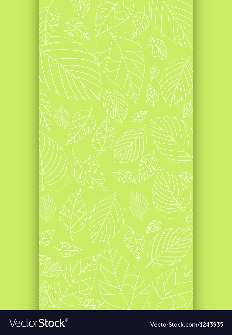 Spring leaf panel background vector