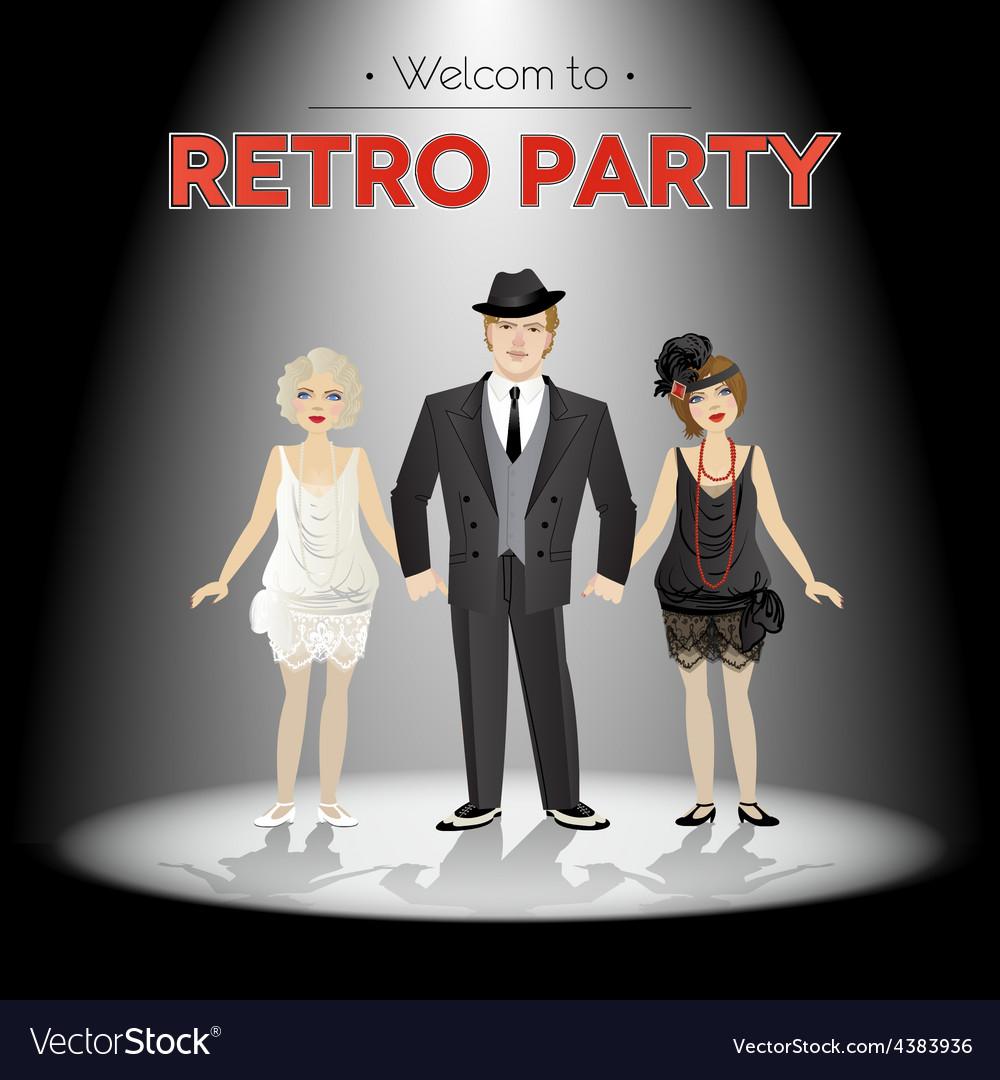 Retro party vector