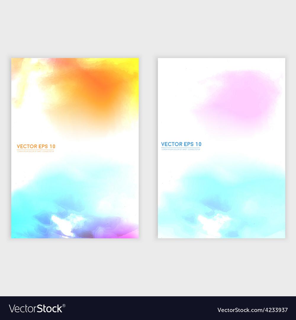 Water color cloud vector