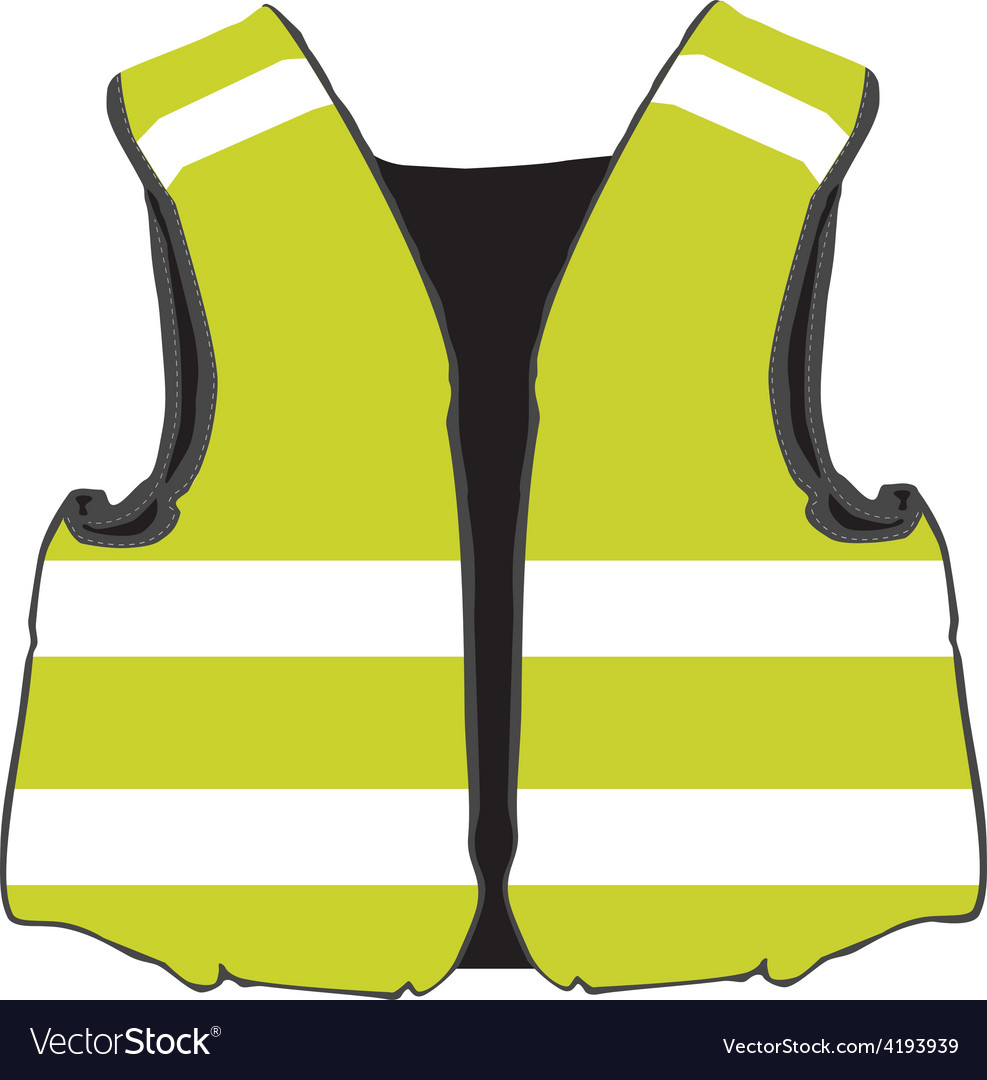 Yellow safety vest vector