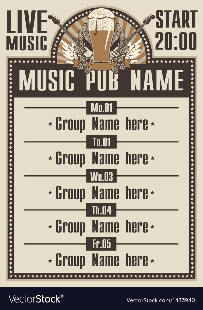 Musical pub vector
