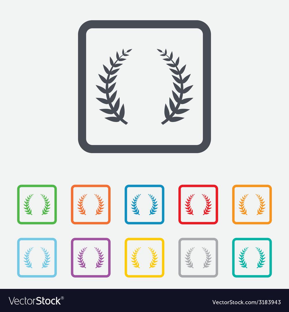 Laurel wreath sign icon triumph symbol vector