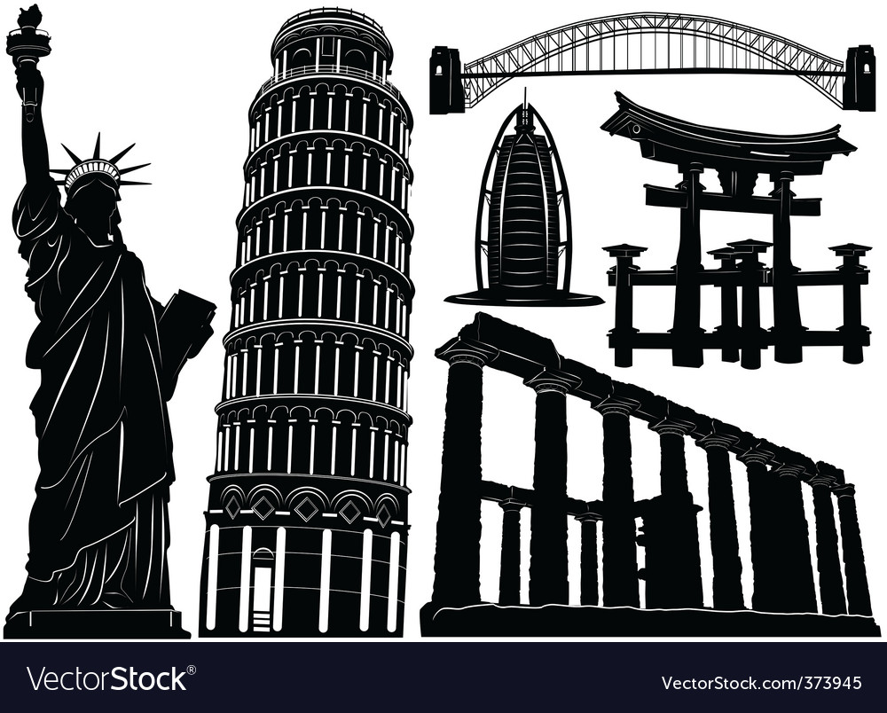 Architecture and historical buildings vector