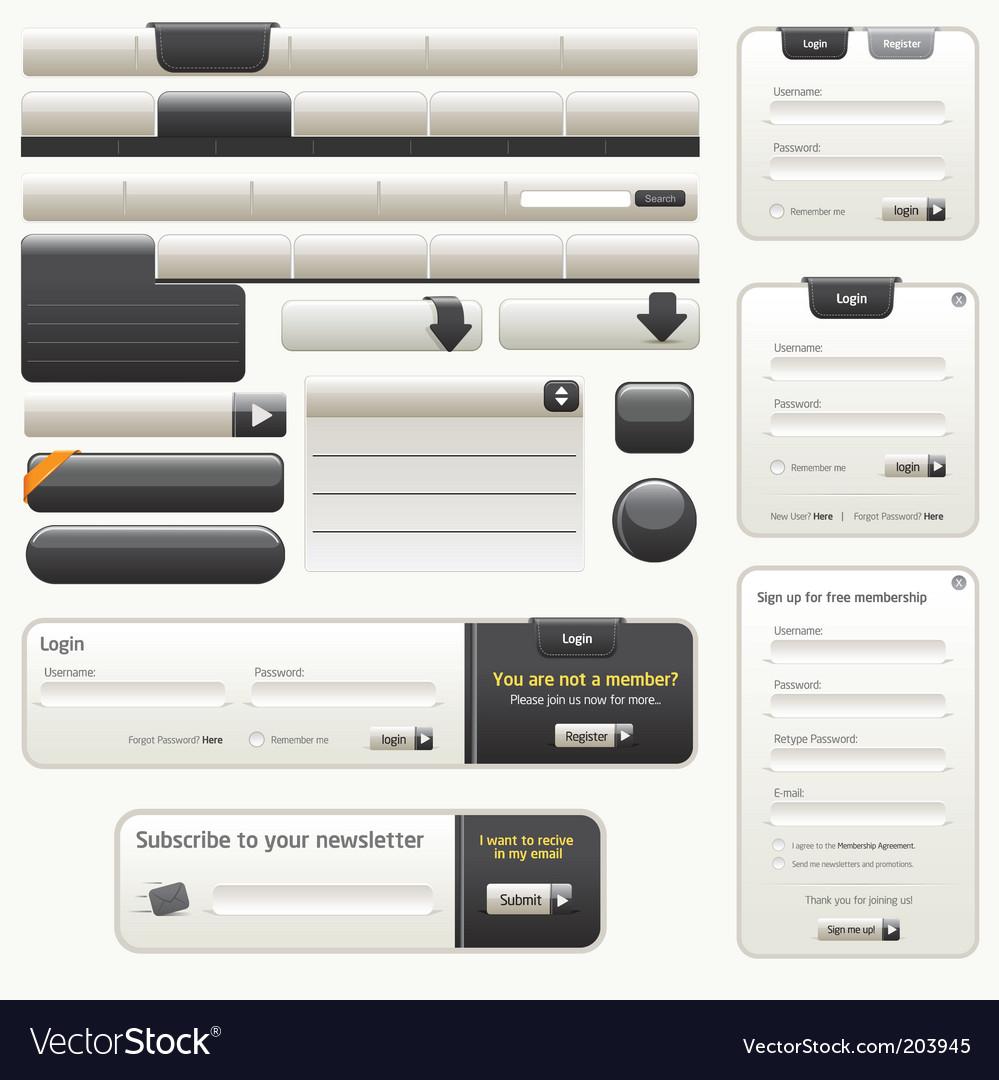 Website design elements |black vector