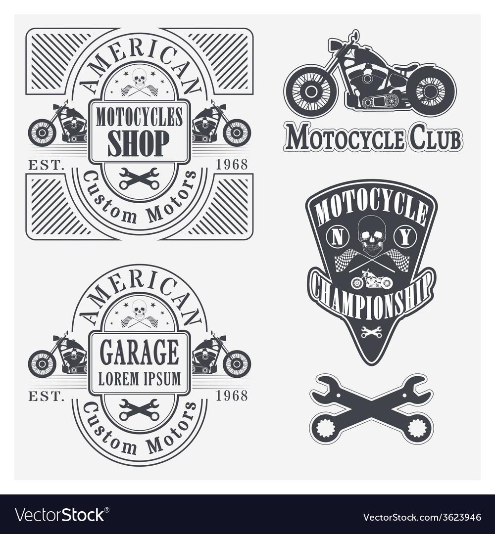 Motocycles vector