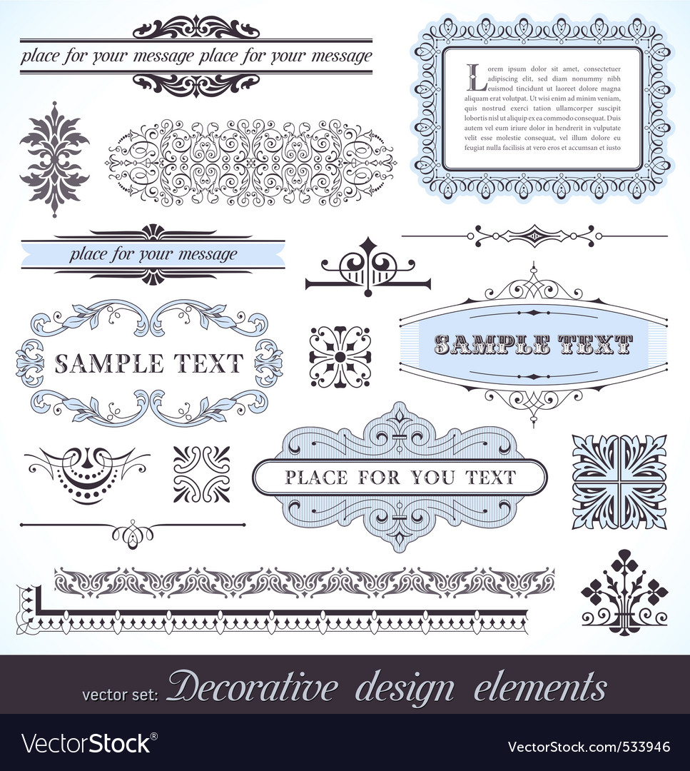 Page decor elements vector