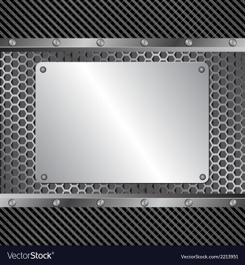 Metallic banner vector