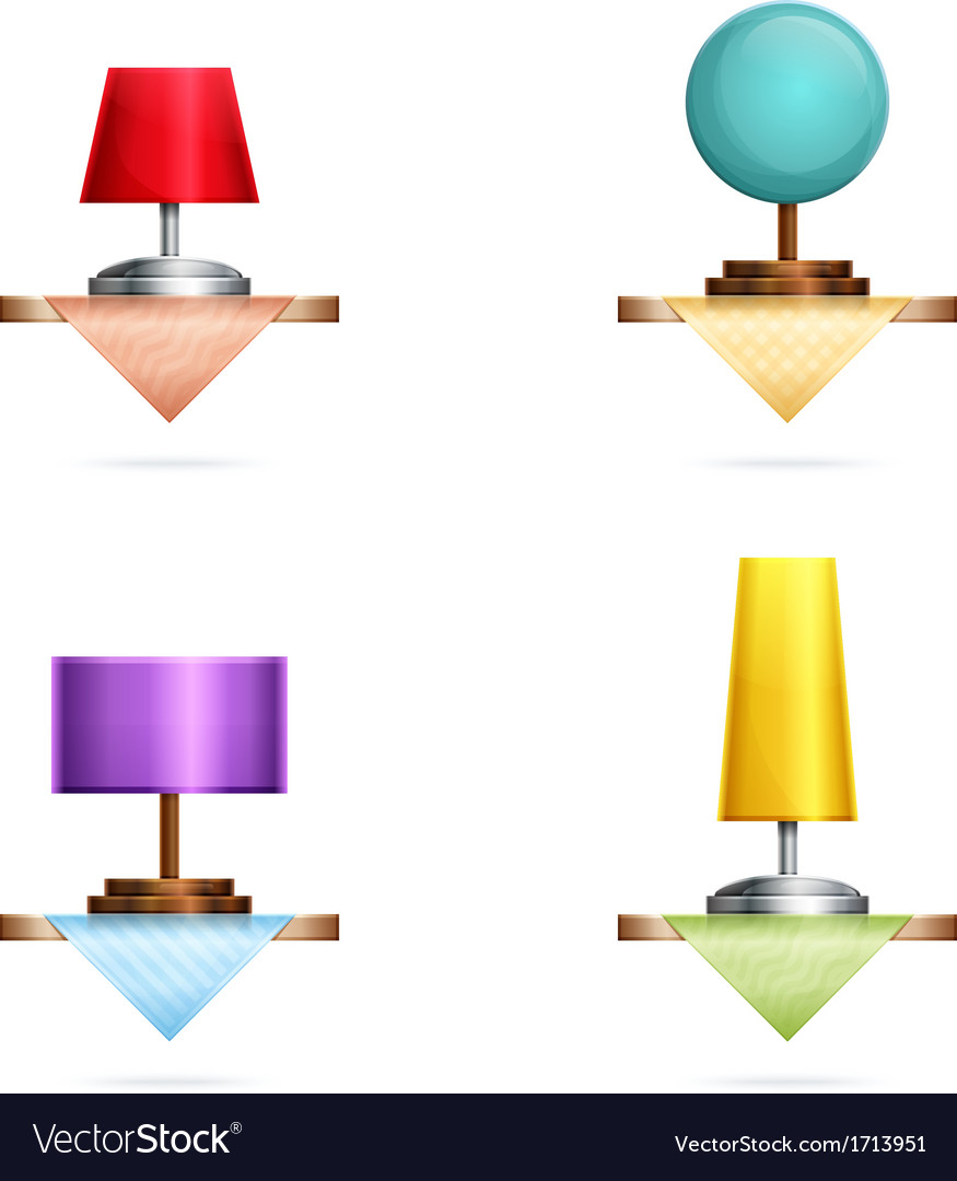 Table lamps vector